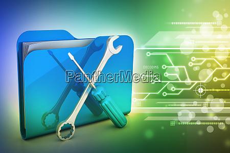 computer technical service concept