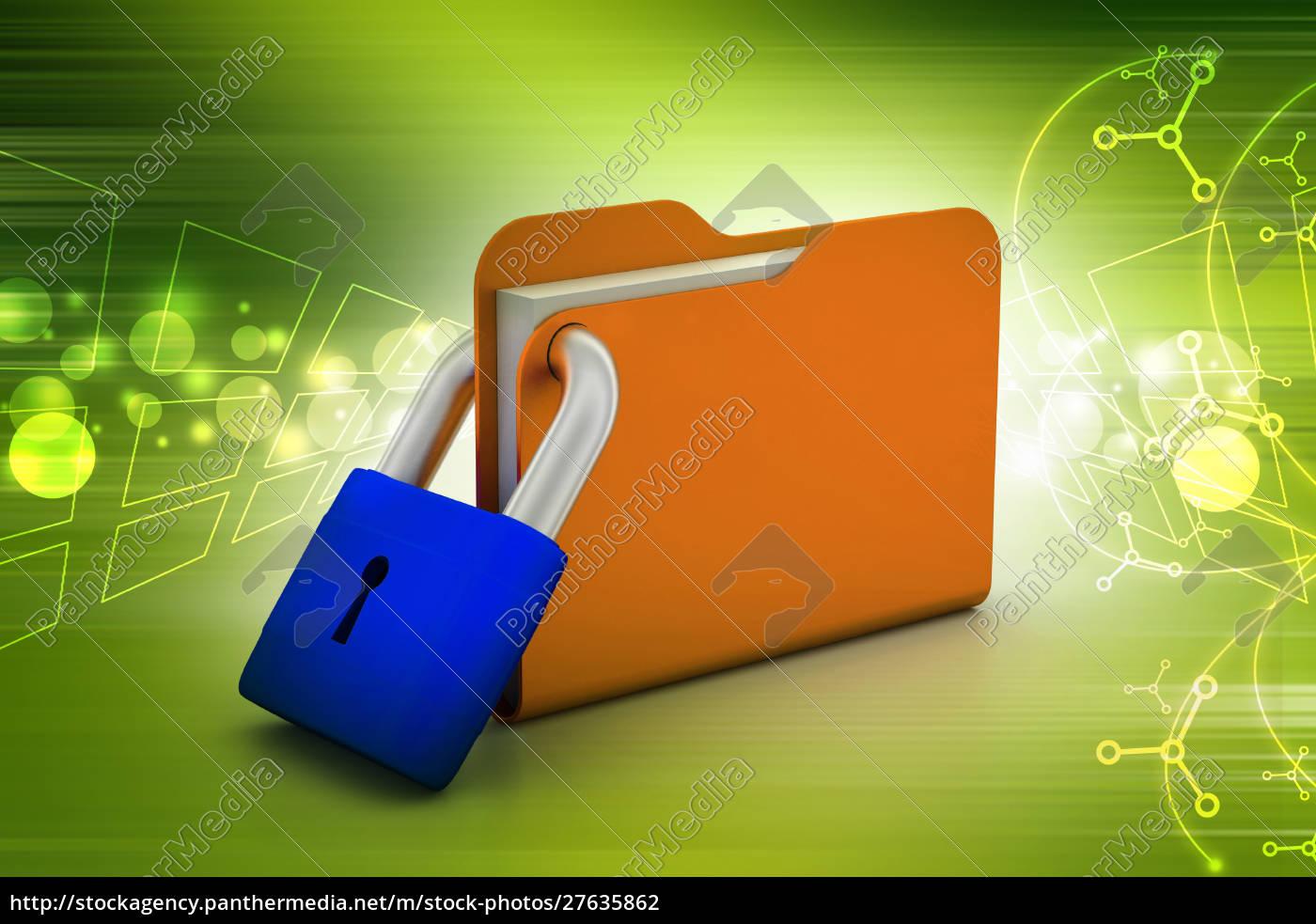 folder, locked - 27635862