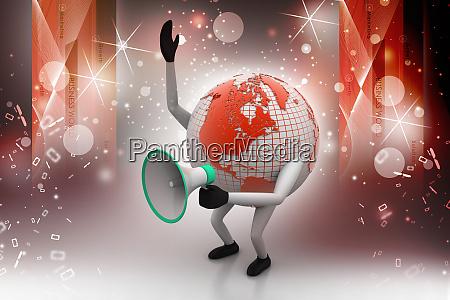 globe mit lautsprecher
