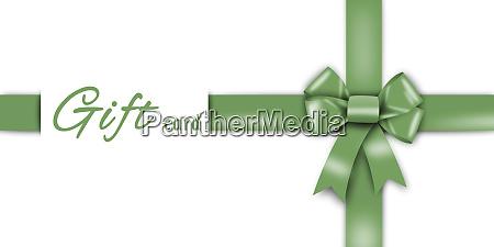 geschenkkarte gruenes band gruene schleife