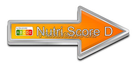 orange nutri score label d 5