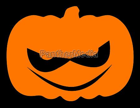 boese halloween kuerbis silhouette