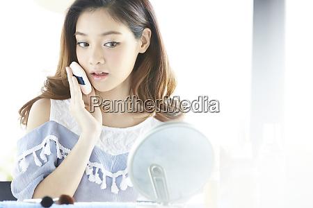 female makeup beauty