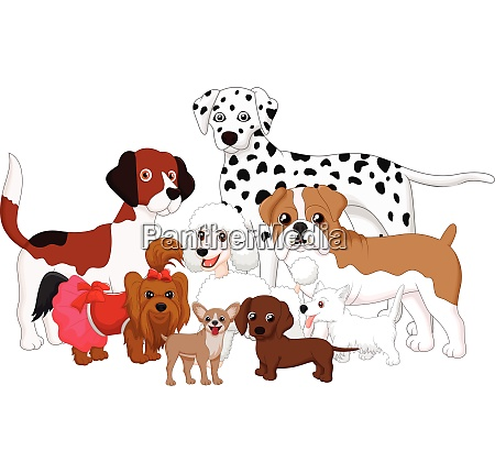 cartoon hundesammlung