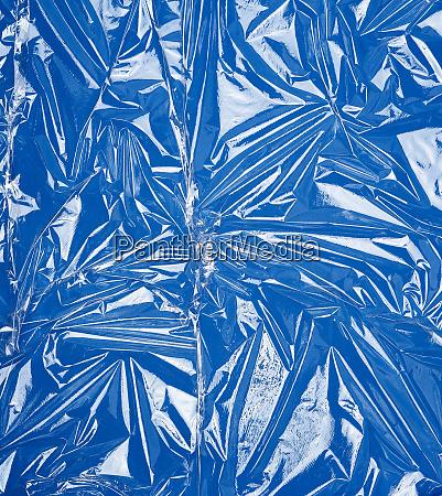 textur einer transparenten dehnkunststofffolie fuer verpackungsprodukte