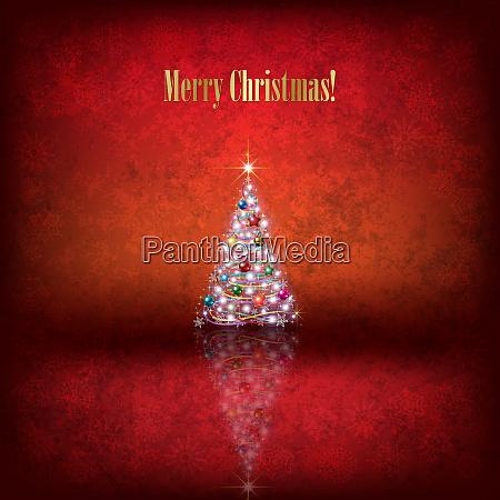 abstrakte weihnachts illustration mit weihnachtsmann und