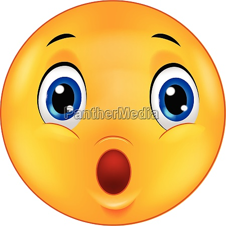 UEberrascht emoticon smiley