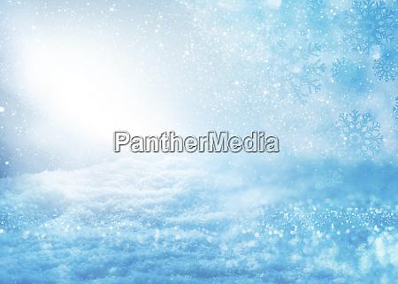 verschwommene blaue schneelandschaft
