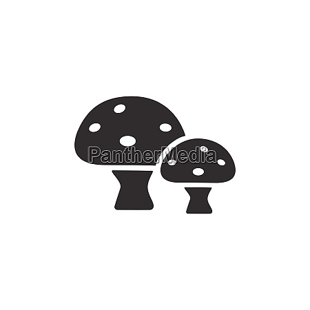 mushrooms isolated icon nature and fall