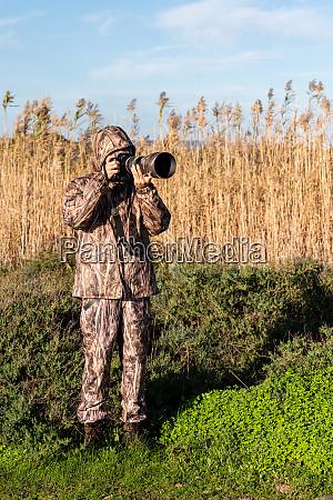 naturfotograf in aktion