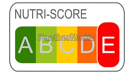 nutri score label level e 5