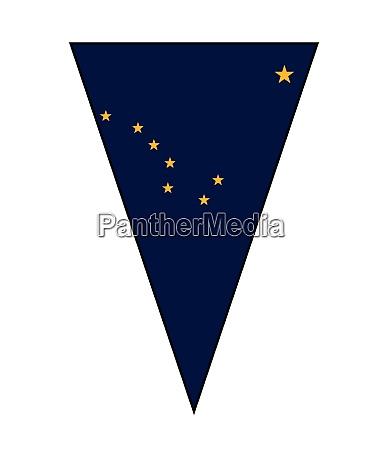 alaska state flag als bunting dreieck