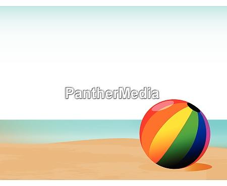 sommer beachball hintergrund