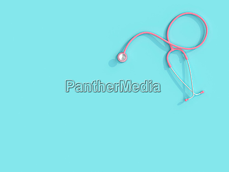 3d bild rendering eines rosa stethoskops