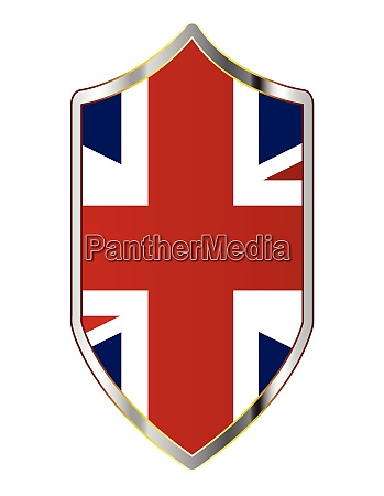 united kingdom flag on a crusader