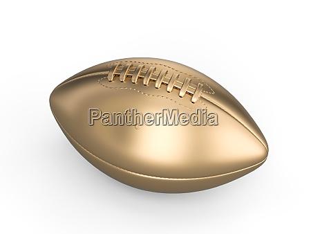 gold american football ball auf weissem