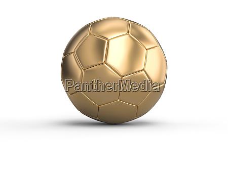 handball goldball auf weissem hintergrund