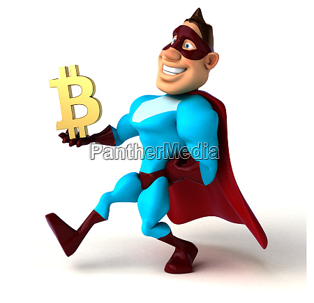 spass superheld 3d illustration