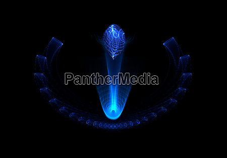 abstract concept design neon blue glowing