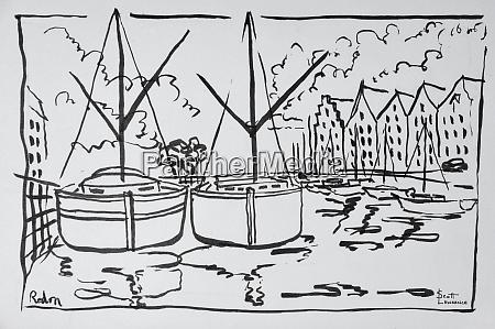 sailboats moored on the la vilaine