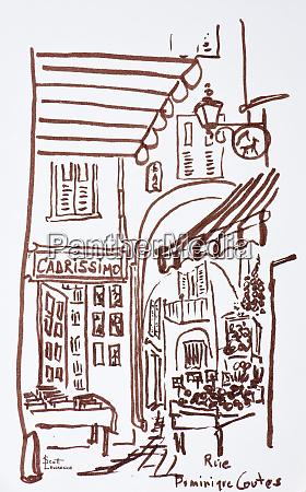 narrow streets of rue dominique conte