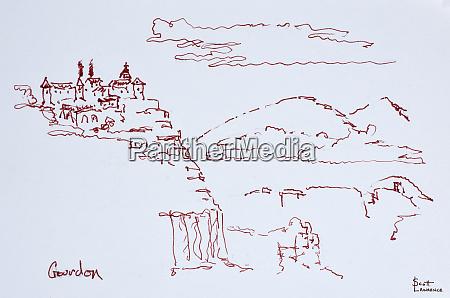 cliffside village of gourdon provence france