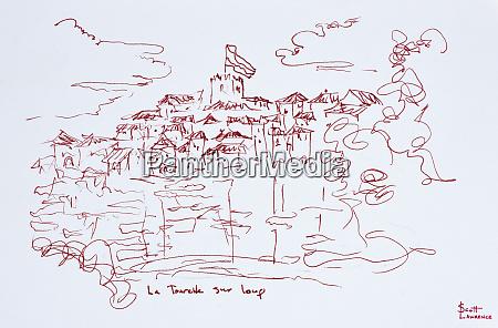 clifftop village of tourettes sur loup