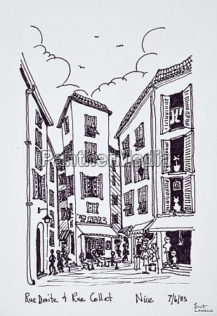 small square between rue droite and