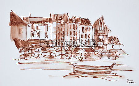 waterfront dining concarneau brittany france