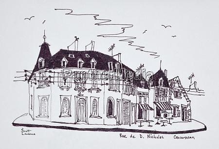 granite houses along rue de d
