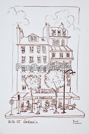 restaurant on boulevard saint germain paris