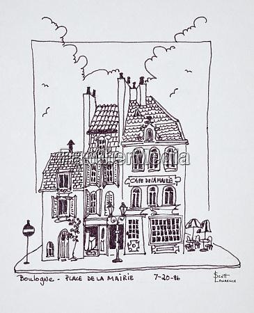 cafe de la mairie in old