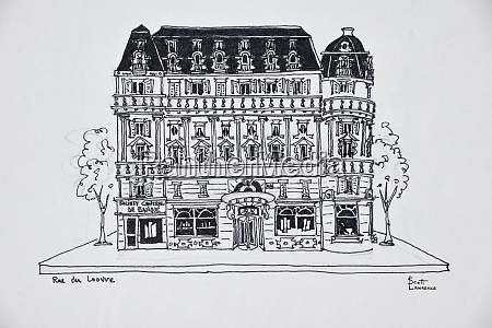 typical haussmann architecture on rue du