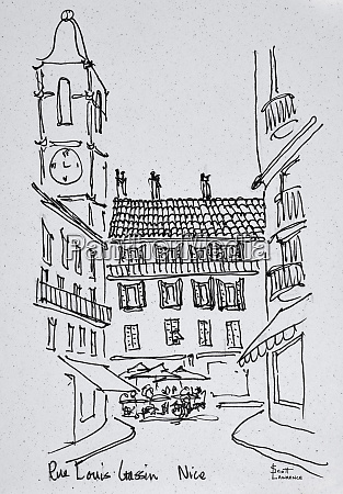 small town square on rue louis