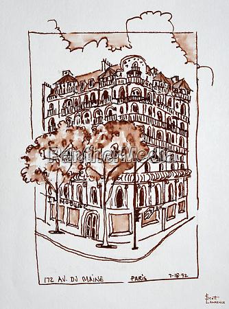 172 avenue du maine paris france