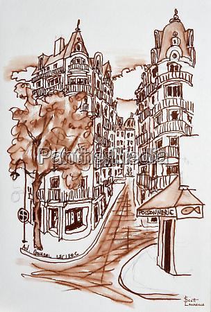 avenue du general leclerc in paris