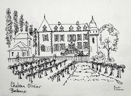 chateau oliver in bordeaux france with