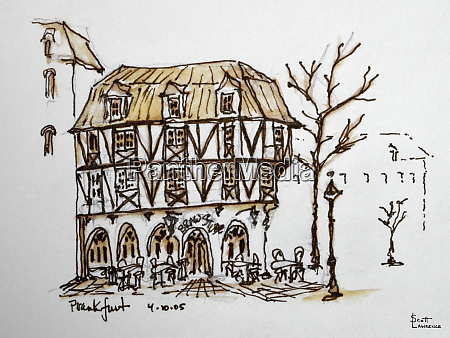 a norman style architecture restaurant in
