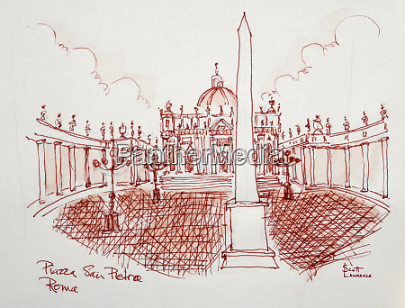 piazza san pietro vatican city rome