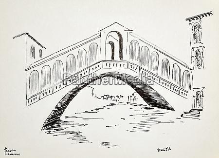 ponte di rialto in venedig italien