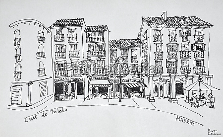 calle de toledo shopping street madrid