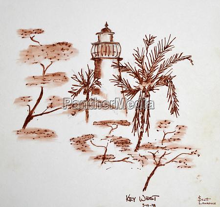 leuchtturm auf key west florida usa