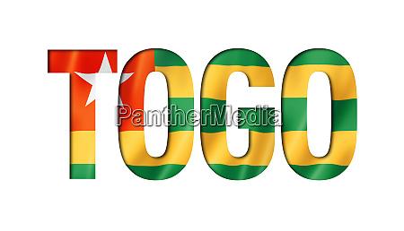 togo flag textschriftart