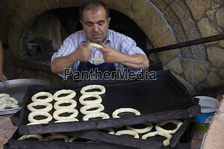 turkey safranbolu simit bakery turkish sesame