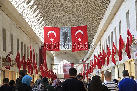 turkey marmara bursa turkish flags and