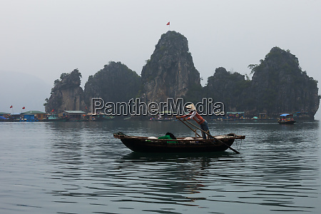 scene from halong bay vietnam