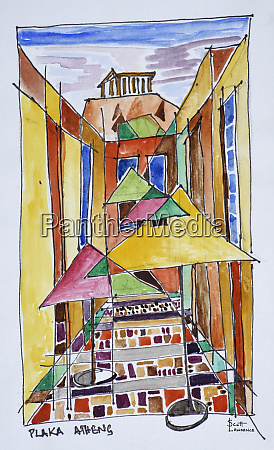 a, cubist, style, watercolor, of, the - 27678136