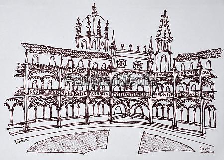 jeronimos, monastery, cloister, , lisbon, , portugal - 27678161