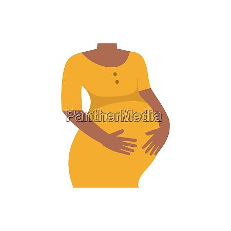 afro amerikanische schwangerschaft frau vektor illustration