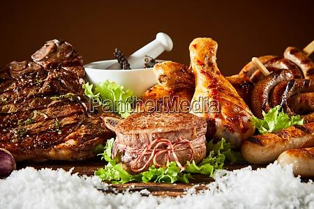 juicy grilled medallion of fillet steak